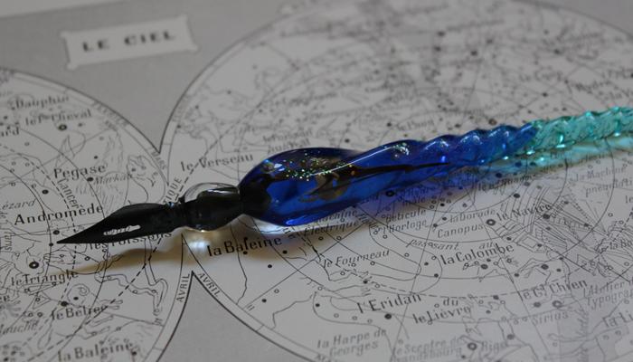 水素インクの硝子ペン