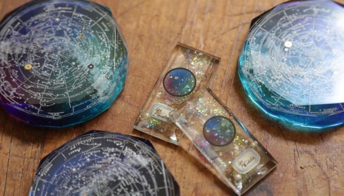 プレアデス星団のプレパラート&碧銀石の星圖盤