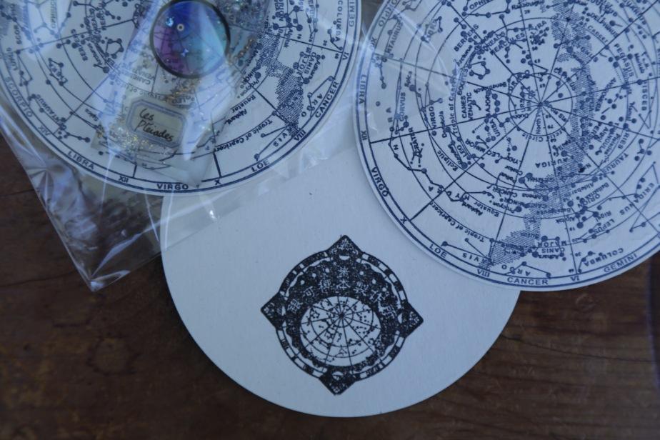 星座早見盤のスタンプ